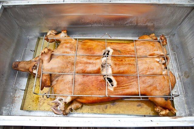 Pig Roast in La Caja China \u2022 Steamy Kitchen Recipes
