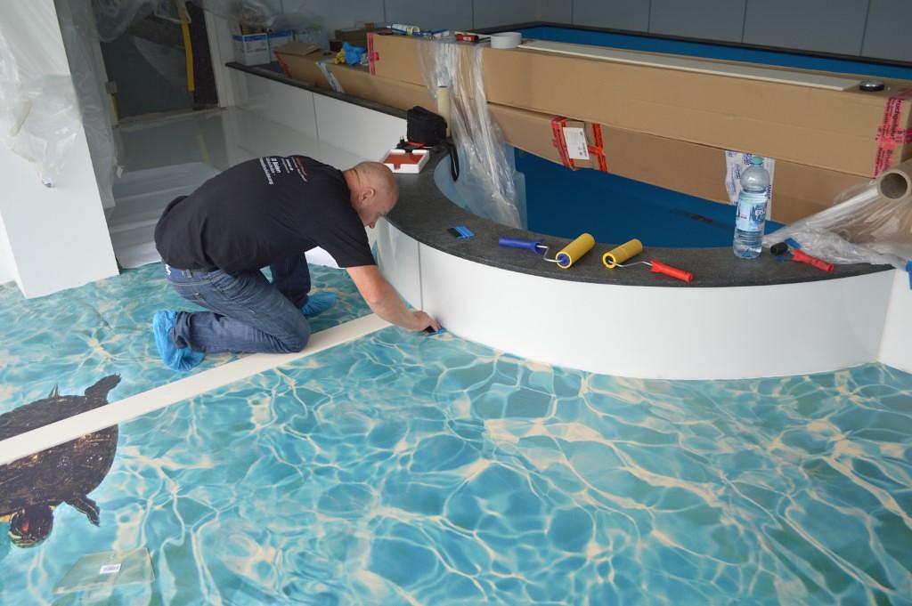3D Boden Badezimmer | 3d Boden Aufkleber Badezimmer Cool Wohnzimmer Cafe Bar Zimmer