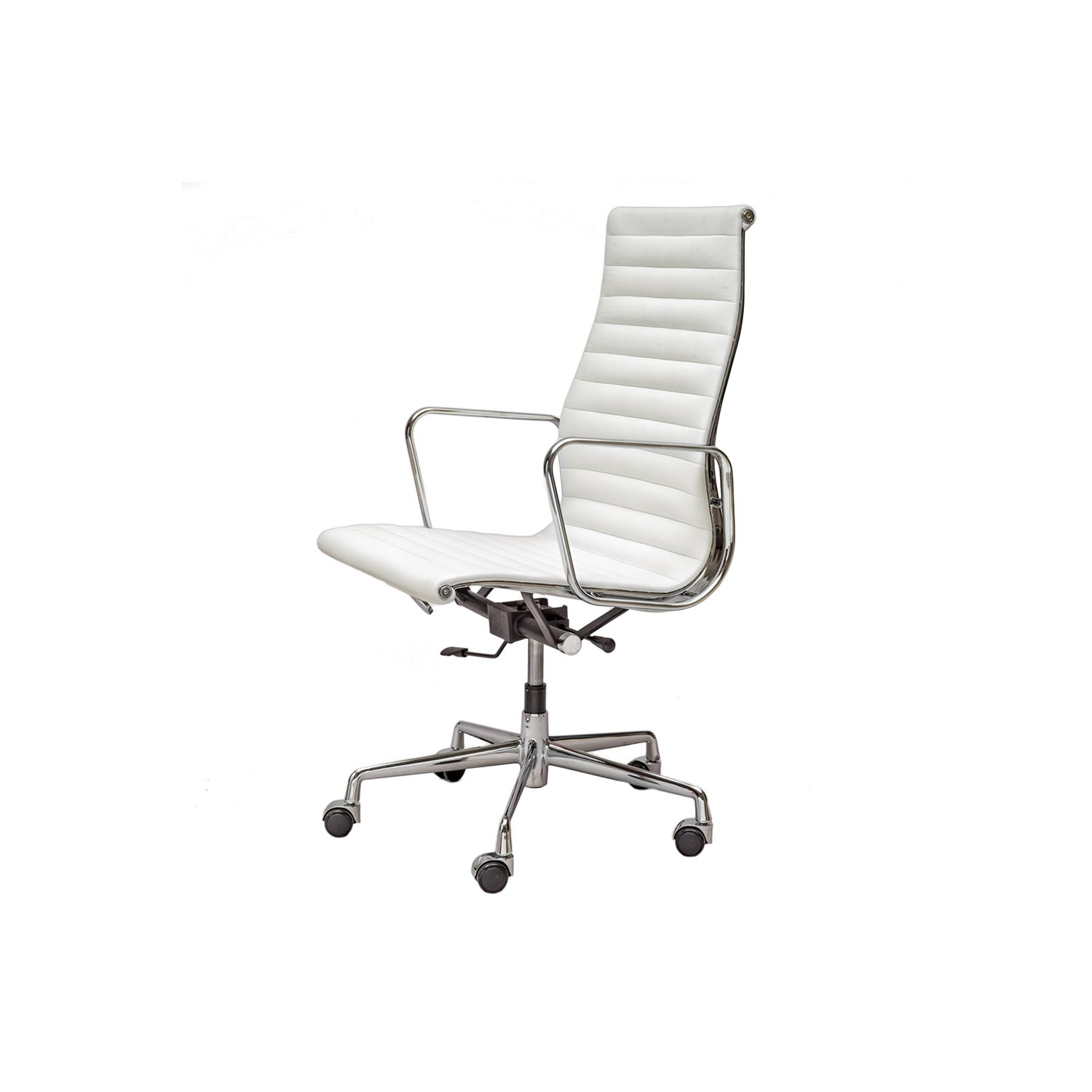 Chair Eames Aluminium Chair Ea 119 | White - Steelform | The Best Reproductions Of Modern Classic Designer Furniture