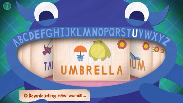 Endless Alphabet word selection screen