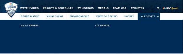 NBC Olympics Other Sports Empty