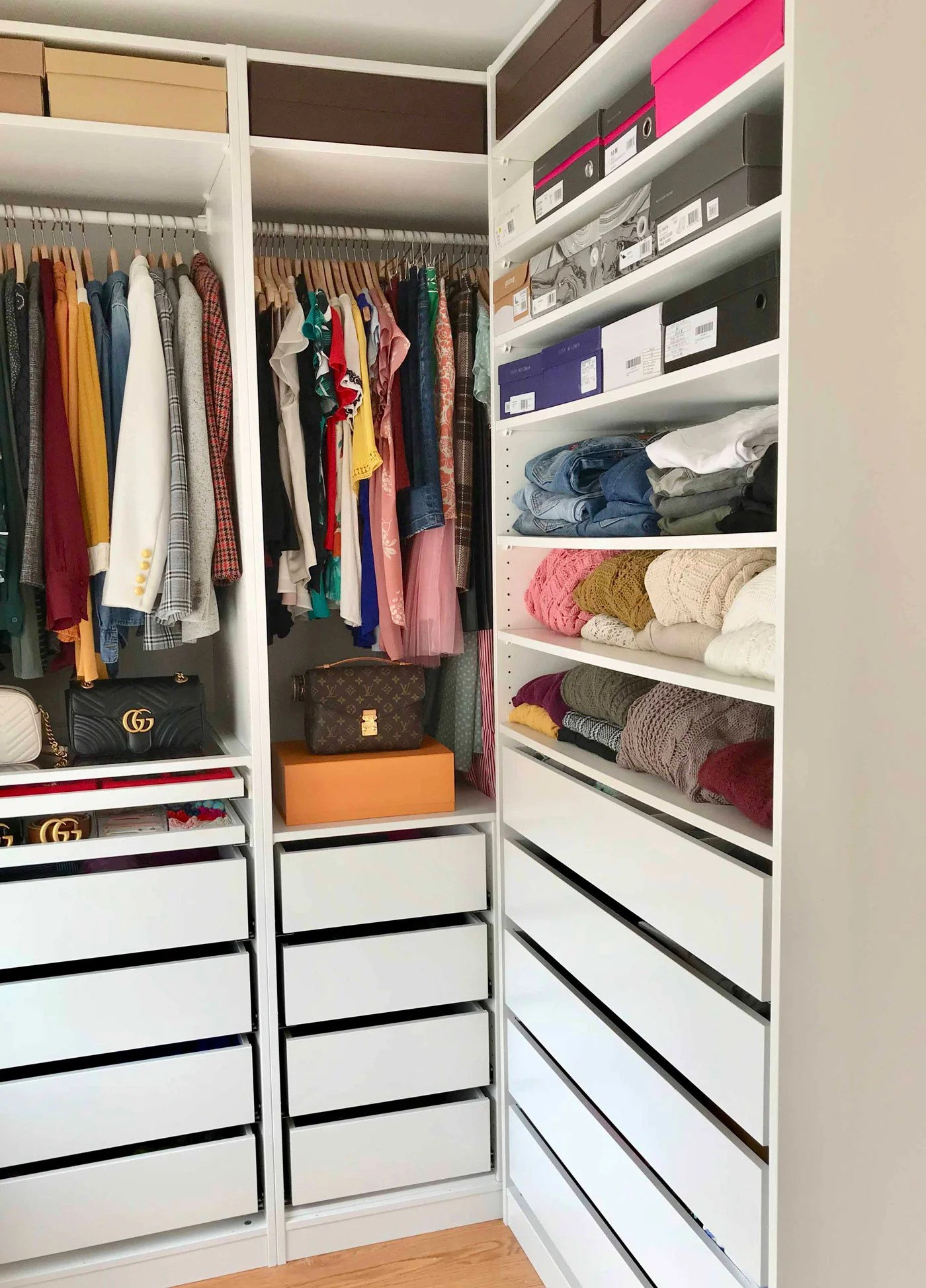 Ikea Wardrobe Leaning To One Side How I Organize My Closet Maximize Small Space