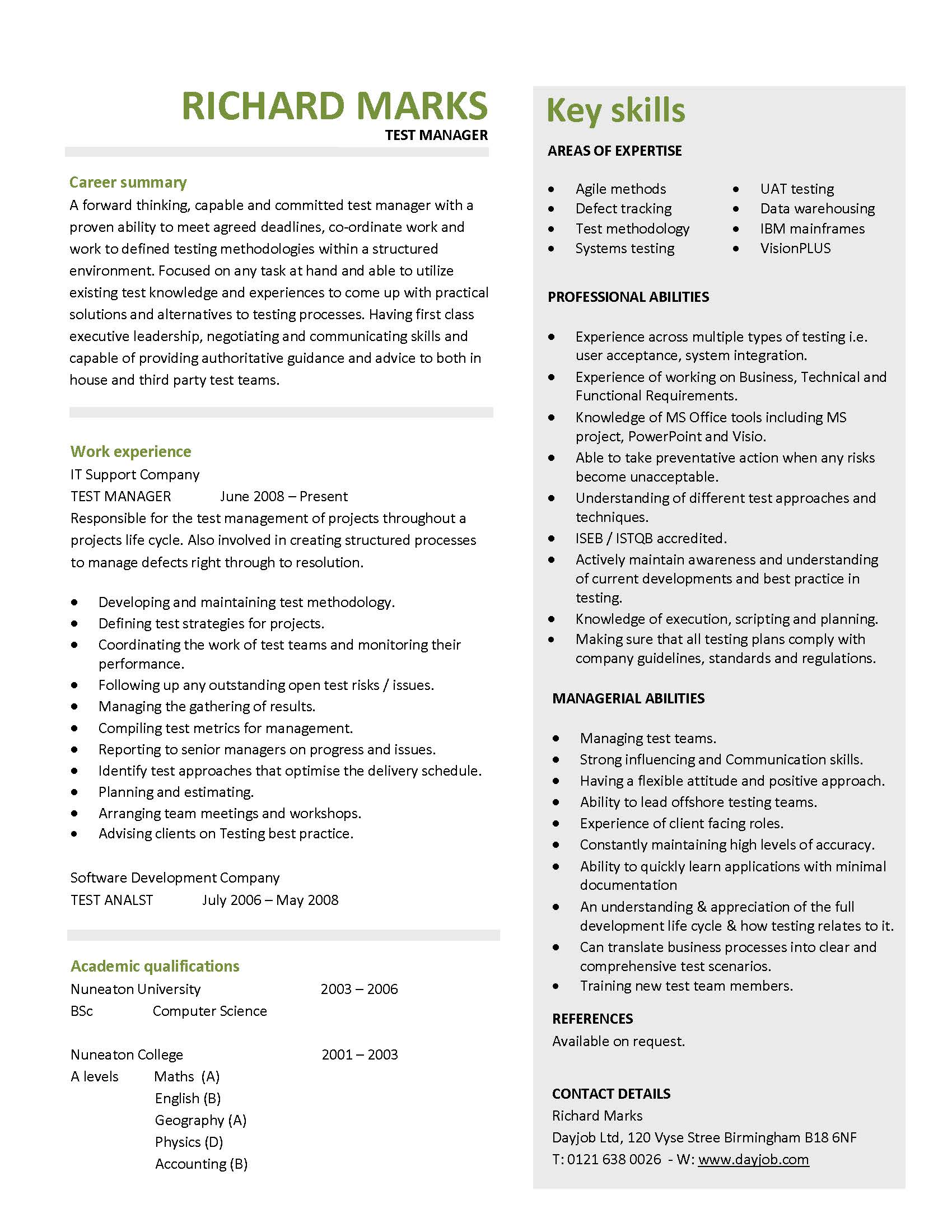 sample cv 2 year experience cover letter and resume samples sample cv 2 year experience unemployed sample cv template and guide stefanbarretto92 stefan barretto page 16