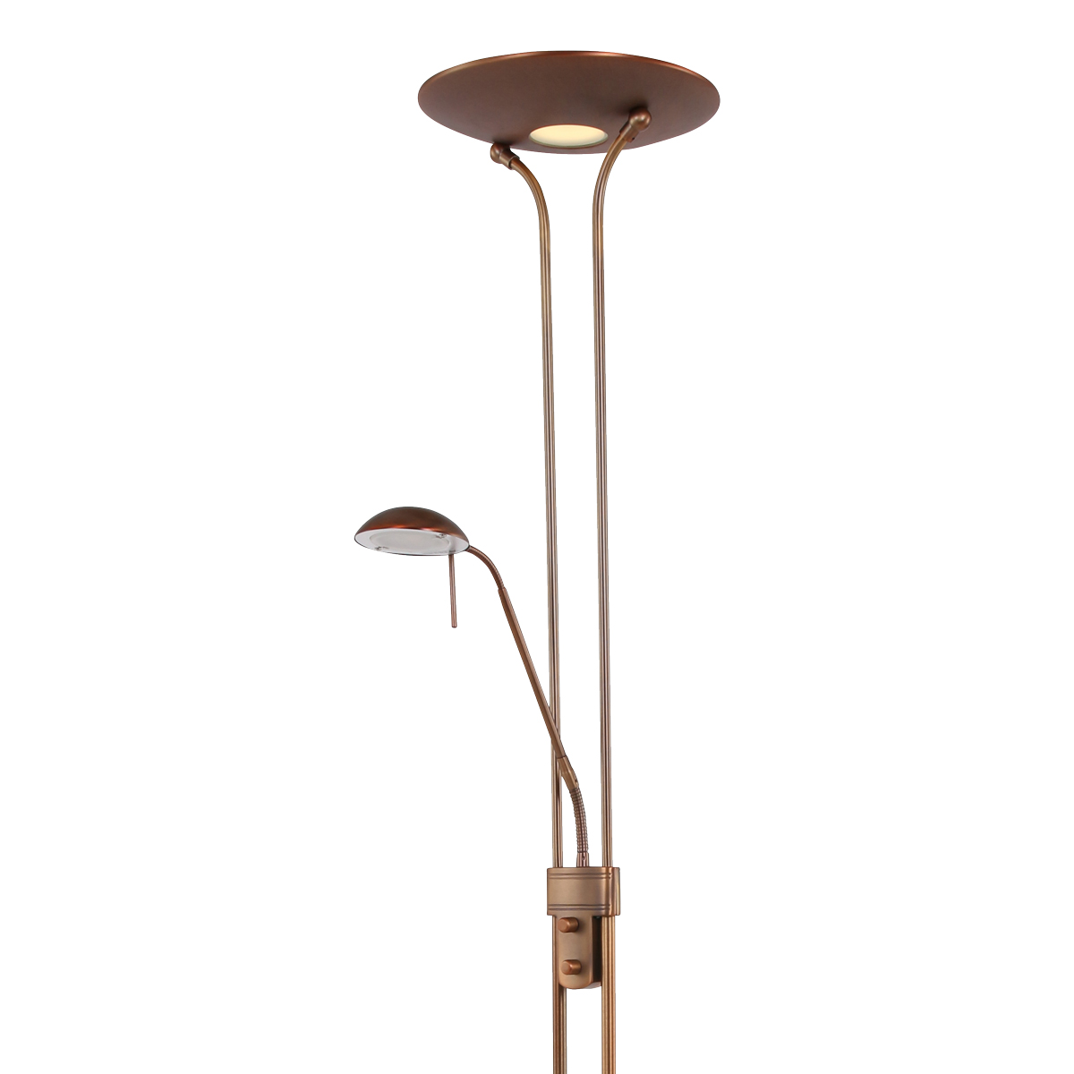 Stehlampe Dimmbar Led Lilo Klassische Stehlampe Led Bronze