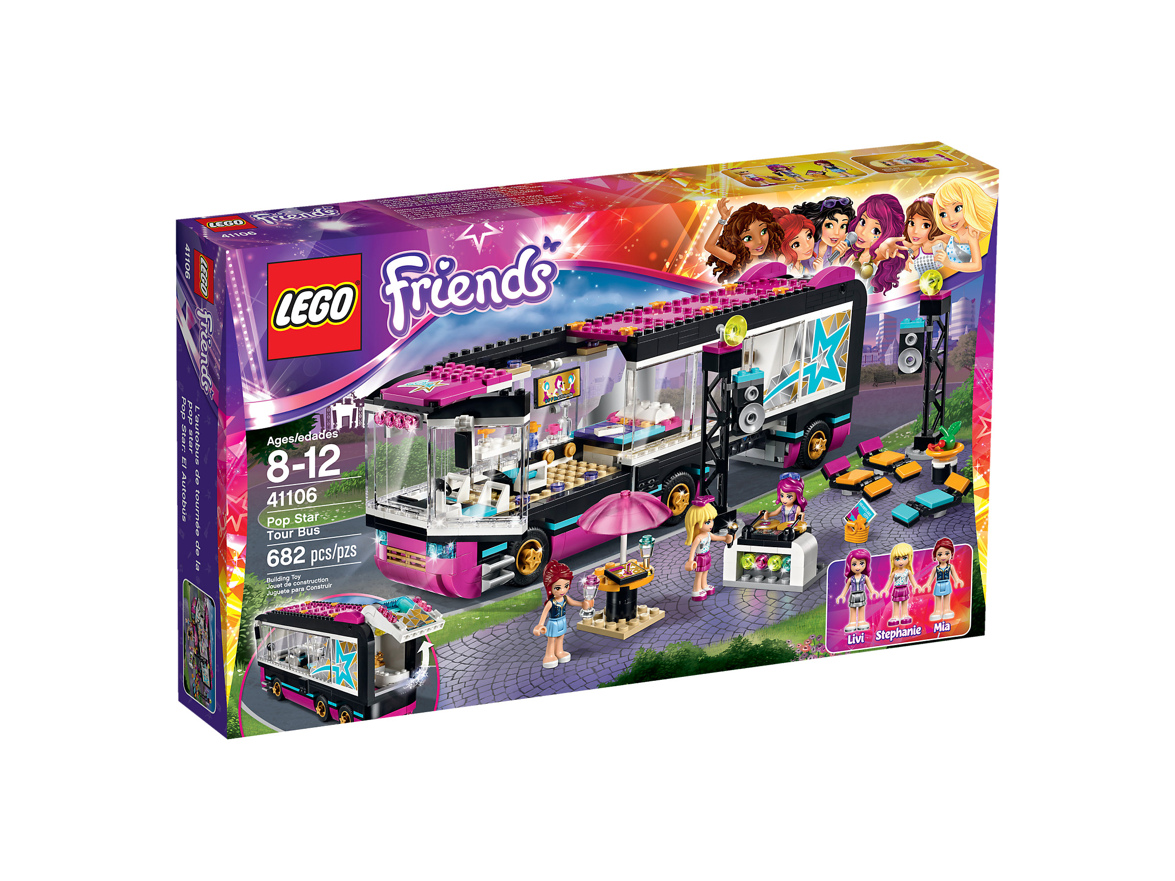 Lego Friends Badezimmer Pop Star Tour Bus 41106 1