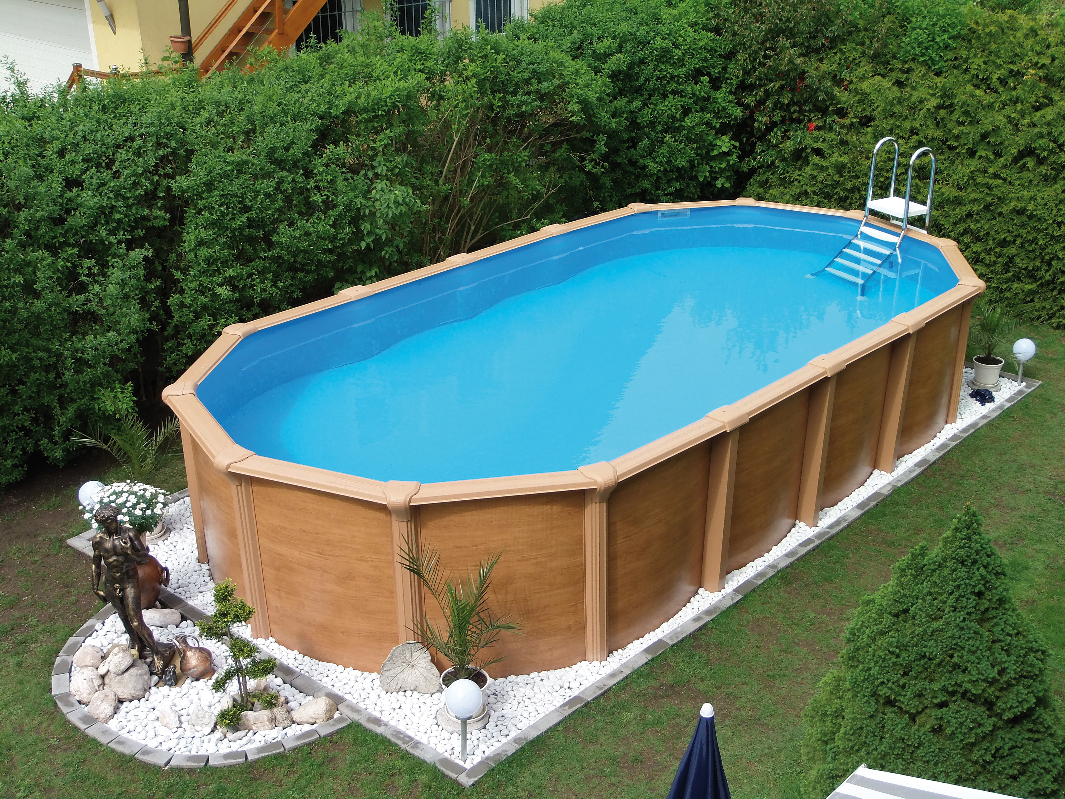 Zwembad 7 X 3 Steirerbecken Pool 6 1x3 7x1 32m Supreme De Luxe Wood