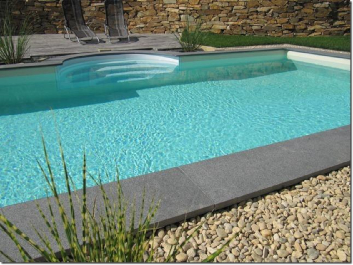 Pool Mit Umrandung 8 0x4 0m Steirebecken Pool Granit Padang Dark Set