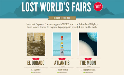 Lost World's Fairs website