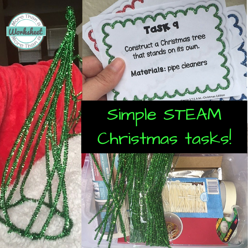 Simple STEAM Christmas Tasks