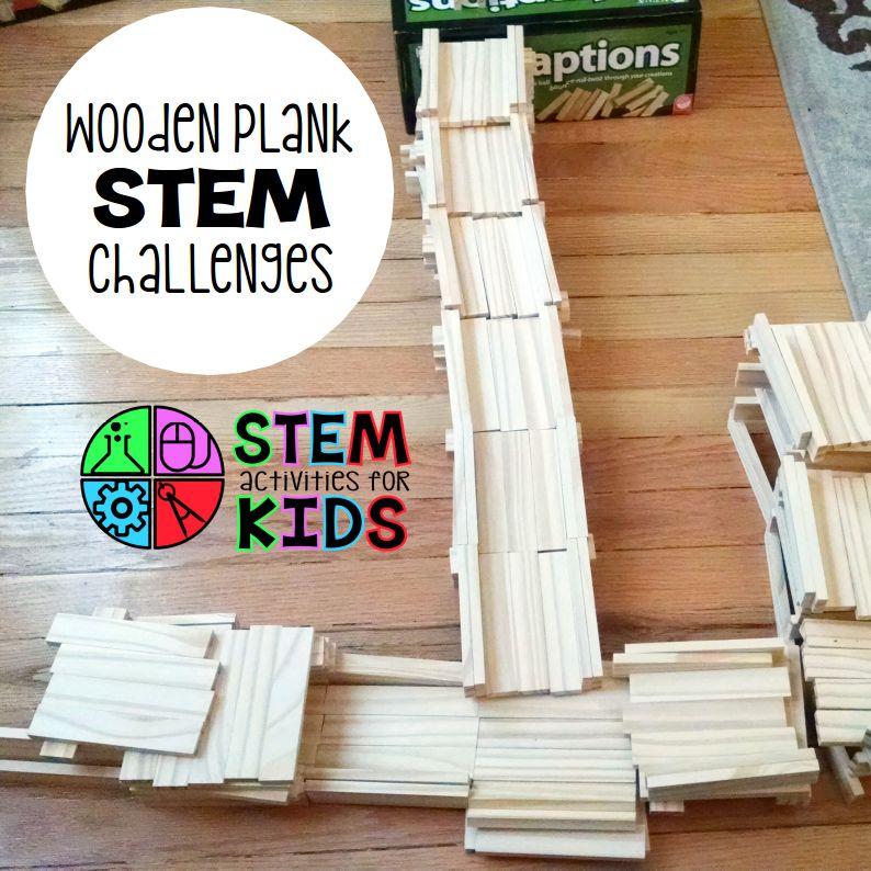 Wooden Plank STEM Challenges