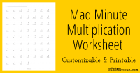 Mad Math Minute Worksheets - mastering math facts ...