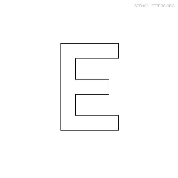 Stencil Letters E Printable Free E Stencils Stencil Letters Org