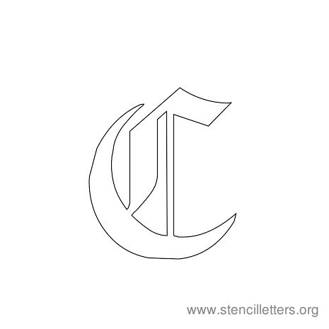 Gothic Stencil Letters Stencil Letters Org