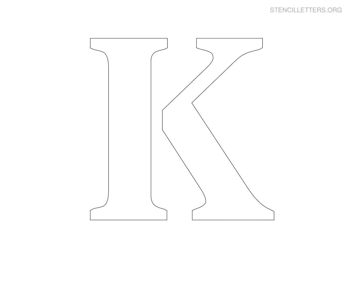 Stencil Letters K Printable Free K Stencils Stencil