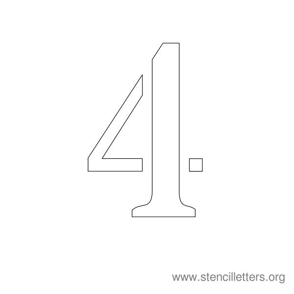 Number Stencils 1-10 Stencil Letters Org