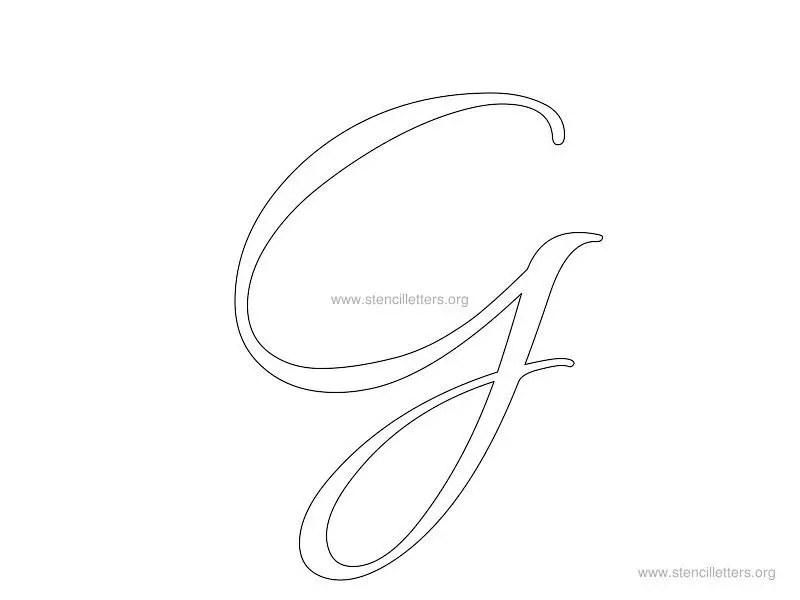 Cursive Wall Letter Stencils Stencil Letters Org