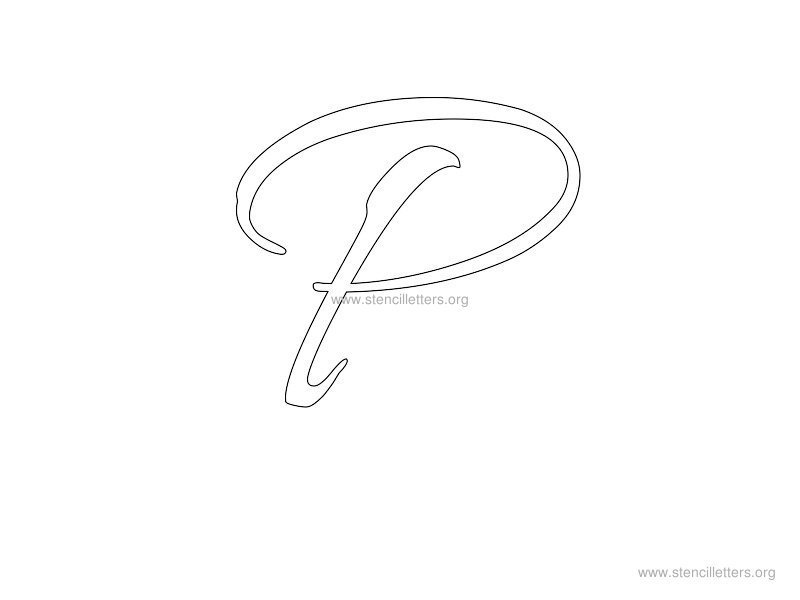Cursive Wall Letter Stencils Stencil Letters Org - pretty lettering stencils