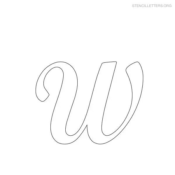 Stencil Letters W Printable Free W Stencils Stencil Letters Org