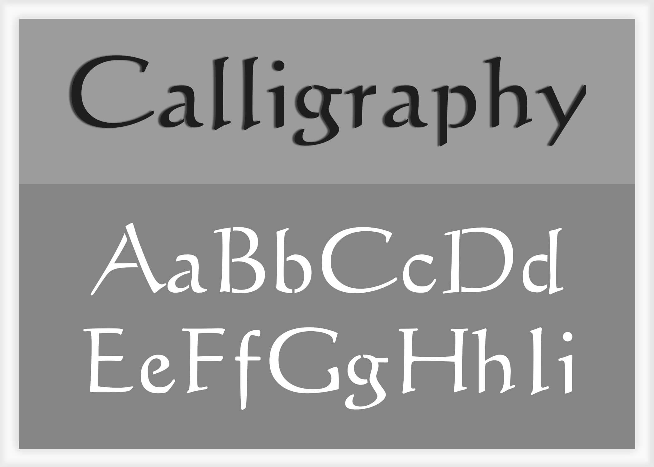 Calligraphy Online Calligraphy Font Alphabet Stencil