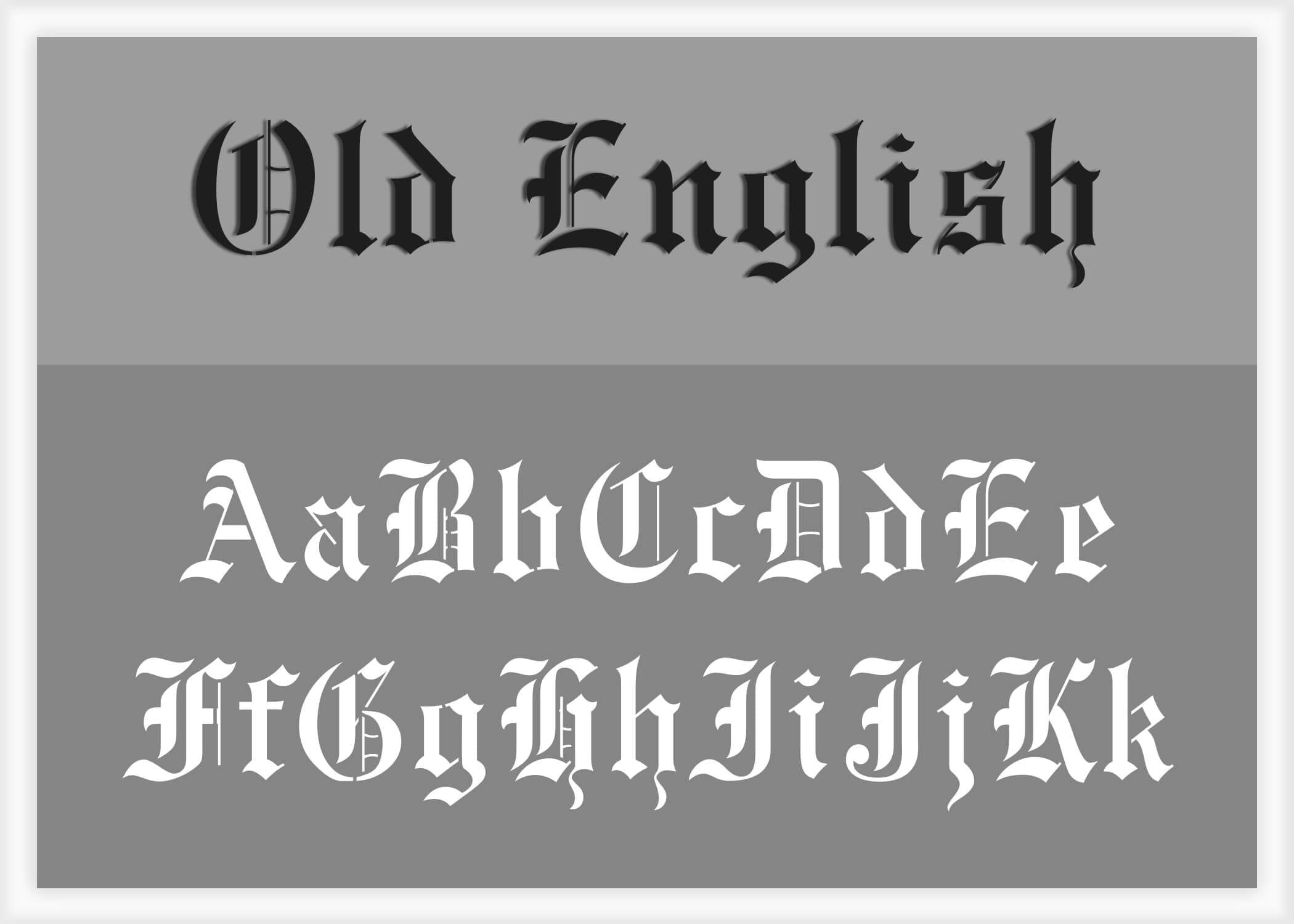 Are Old English Old English Font Alphabet Stencil