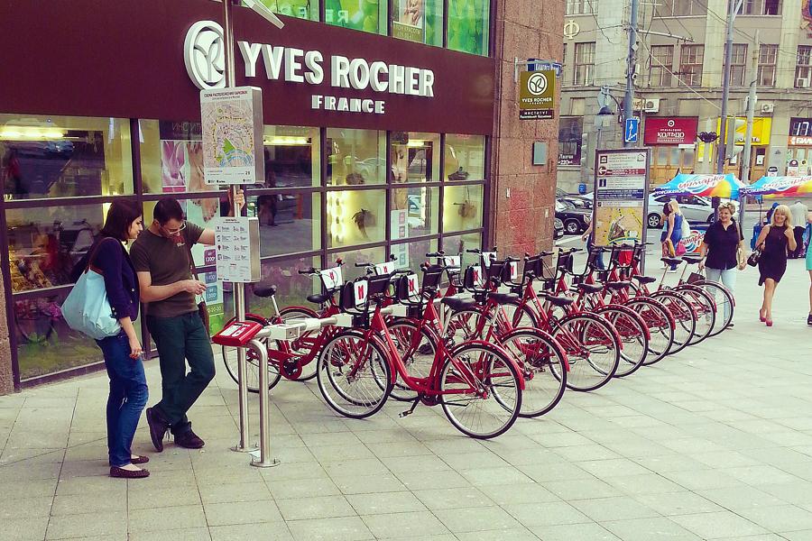 2013.06.03 - Одна из первых точек велосипедного проката Velobike в Москве 900