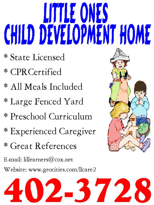 home daycare flyers - Template