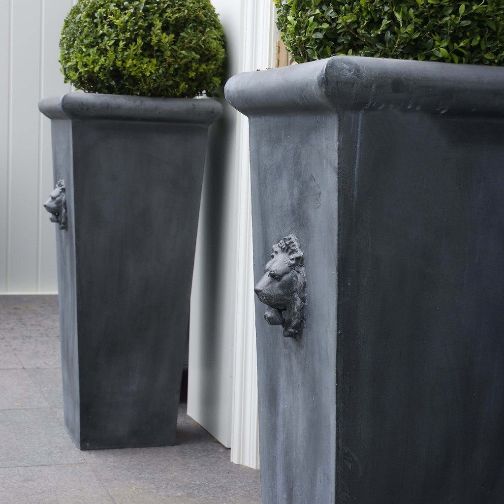 Planters For Home Decor Fabulous Tall Planters For Cool Garden Decoration