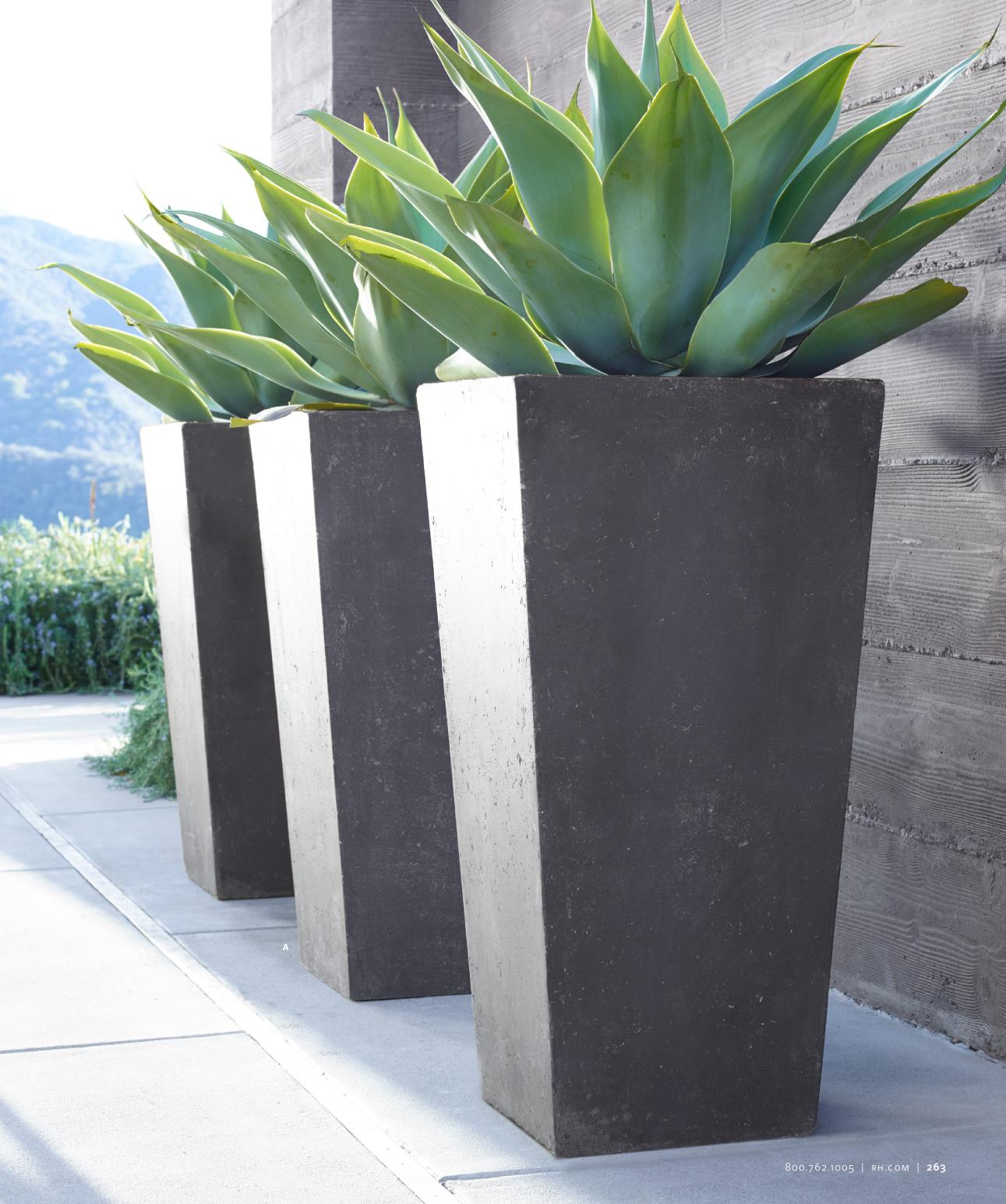 Big Garden Planters Decor Fabulous Tall Planters For Cool Garden Decoration
