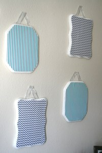 DIY: Inexpensive Chevron and Striped Wall Decor | The art ...