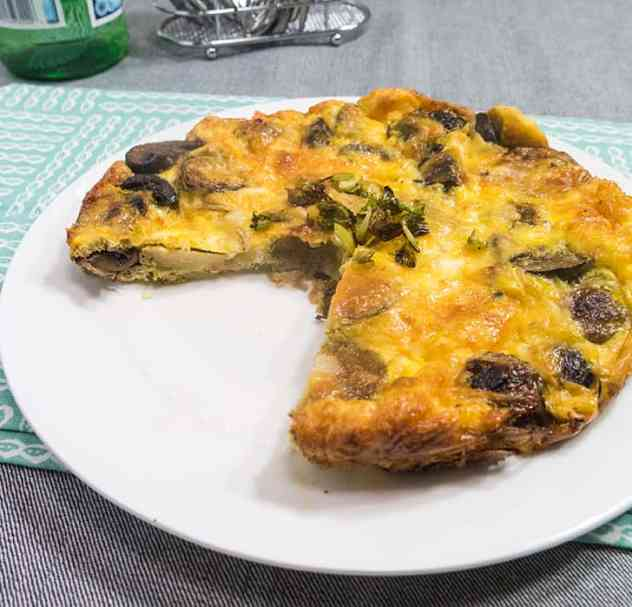 Roasted Brussels Sprouts and Mushroom Fritta