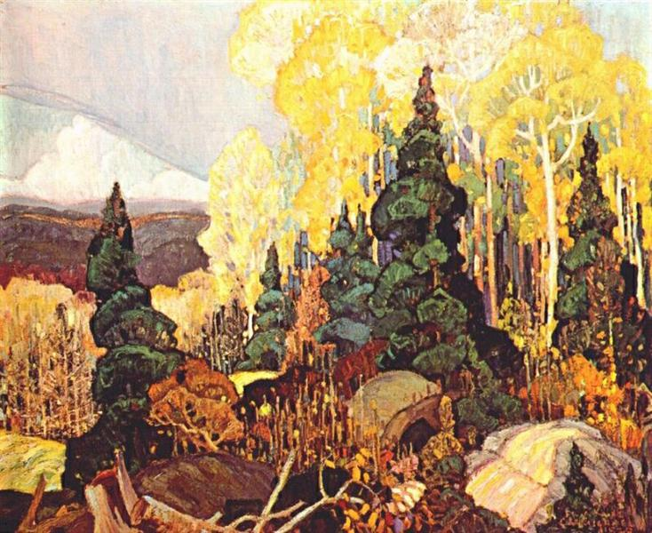 Autumn Hillside by Franklin Carmichael, 1920