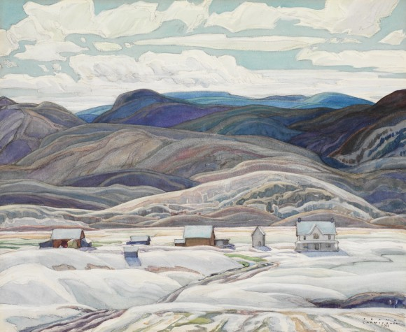 Bisset Farm, 1933, by Franklin Carmichael