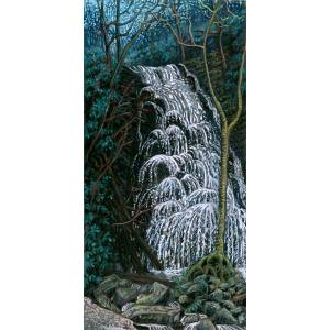Crabtree Falls, a pastel painting by Stephanie Thomas Berry