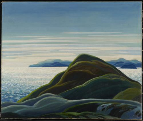 North Shore, Lake Superior, 1927, by Franklin Carmichael