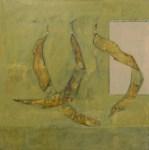 "Jacaranda pods, 2002, oil on canvas, 20x20"""