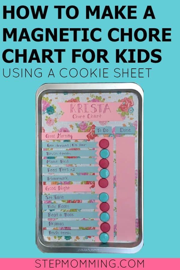 DIY Magnetic Chore Chart + Free Printable \u2013 Stepmomming Blog