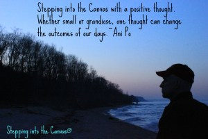 Stepping into the canvas with a positive thought