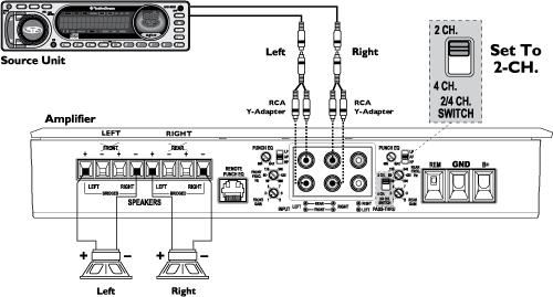 4 channel amp head unit wiring diagram