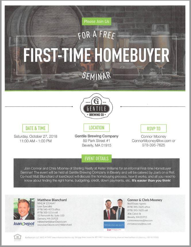 10/27/18 - Sterling Realty Hosting Free First Time Homebuyer Seminar