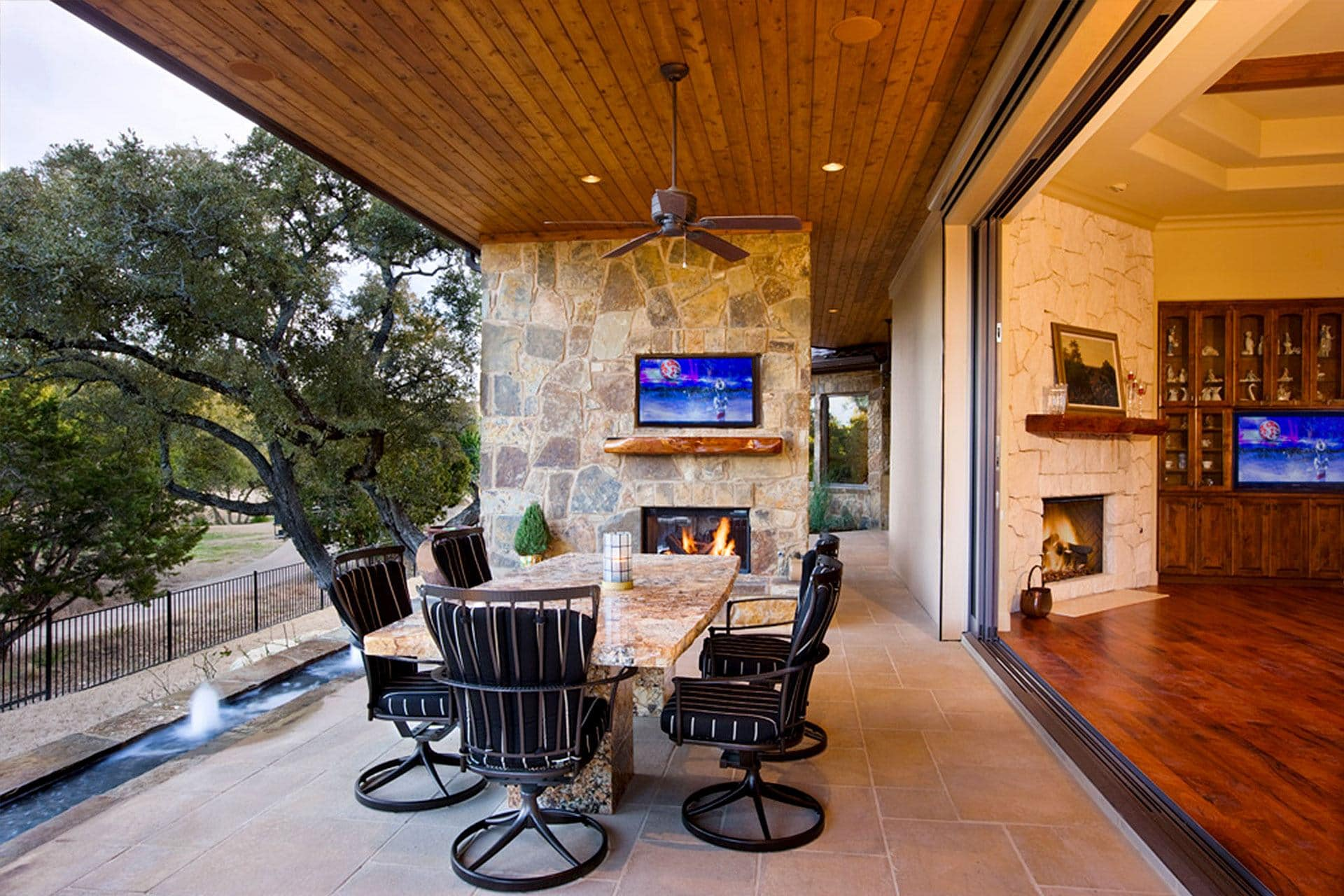 Houzz Home Office Texas Hill Country Tuscan 6401 - Sterling Custom Homes