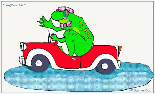 Digital cartoon created by Margaret Stermer-Cox 2002
