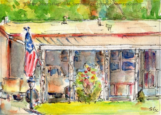 Day Four: The Neighbor's Flag copyright M. Stermer-Cox