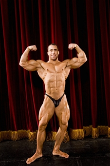Ripped Bodybuilder posing