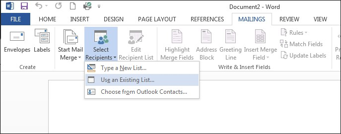 How to Send an Email Mail Merge using Word and Outlook together