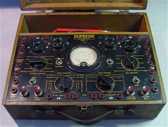 Supreme Instruments Corp Supreme Tube Testers And Radio