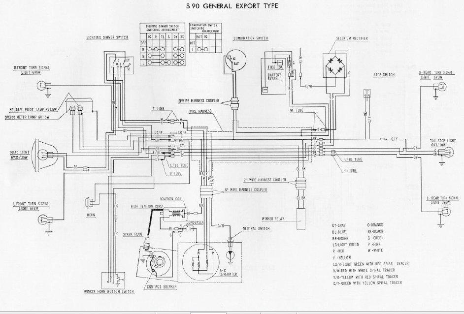 honda s90 wiring restoration