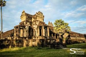 Angkor Wat in the setting sun.