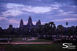 Sunset is over - one of thousands since the Wat was build in the 9th Century.
