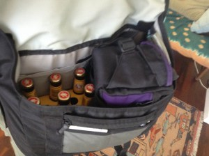 Six pack in a camera bag - how awesome is that.