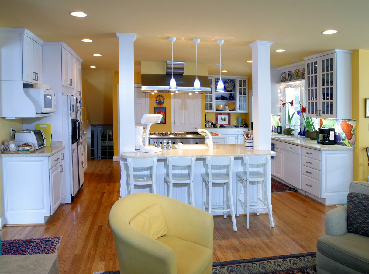 oboyle split level kitchen remodel Remodeling of a Split Level Residence Severna Park Maryland Despite what they say we found a way to make a split level better